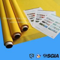 Short Delivery Time 100% Polyester Silk Screen Print Mesh , White / Yellow Manufactures