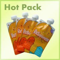 Buy cheap Resealable Foil Stand Up Pouch With Spout , Refillable Baby Food Pouches from wholesalers