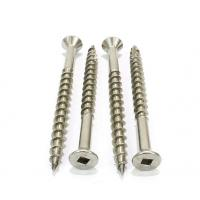 Buy cheap Square Drive Stainless Deck Screws Type 17 Wood Cutting Point Q195 / Q235 from wholesalers