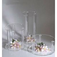 Buy cheap Plexiglass Acrylic Rods And Tubes , High Light Transparency Acrylic Tube Cake Stand from wholesalers