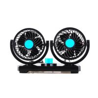 Buy cheap Car Dashboard Fan / Universal Car Accessories Dual Head 2 Speed 12V Cooling Air Circulator from wholesalers