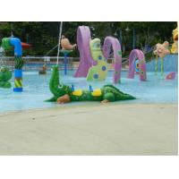 Buy cheap Green Fiberglass Water Pool Toys Crocodile Spray For Kids And Adults from wholesalers