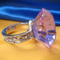 Buy cheap cheap pink glass diamond crystal napkin ring holder from wholesalers