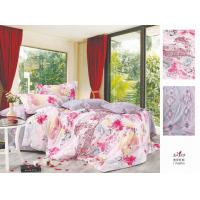 Buy cheap Pink Floral Printed Queen Size Complete Cotton Bedding Set for Home from wholesalers