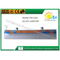 Acrylic Plastic Sheer Descent Water Blade With DC12V Colorful LED Light