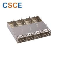 Buy cheap 1 * 4 Cage Ports SFP Optical Connector Pipes Fiber Plug SFP Module Connector from wholesalers