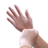 Buy cheap Transparent Examination Vinyl Disposable Medical Gloves from wholesalers