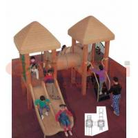 Buy cheap plastic slide school wooden  outdoor playground equipment from wholesalers