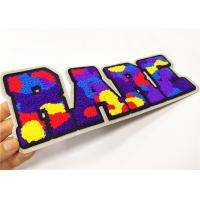 Buy cheap Varsity Jacket Chenille Letterman Patches Camouflage Design Die Cut Border from wholesalers