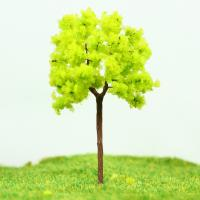 OEM Miniature Model Trees Yellow Green Street Wire Tree 7cm Manufactures