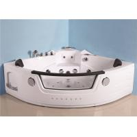 Buy cheap Portable Mini Indoor Hot Tub Corner Air Jetted Bathtubs 7 Skirt Lights Thermostatic Heater from wholesalers