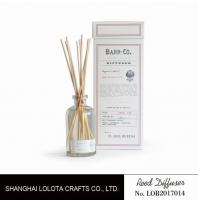 Wholesale 120ml clear bottle reed diffuser with customized fragrance and gift box from china suppliers