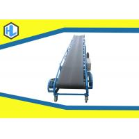 Blue Color 5 - 20m Length Straight Belt Conveyor Machine 10 To 26° Dip Angle Manufactures