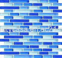 Wholesale Blue and White  Swimming Pool Mosaic, Glass Mosaic from china suppliers