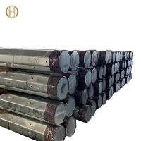 Buy cheap Bitumen  Electric Power Transmission Pole 5.3KN - 20KN Black 98% Zinc Painting from wholesalers