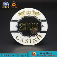 Wholesale 3-4.3MM Thinkness Custom Poker Chips Clay Ceramic Nylon Stickers 14g from china suppliers