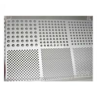 Buy cheap Powder Coated Custom Aluminum Panels Laser Cutting Perforated Facade Wall Decoration from wholesalers