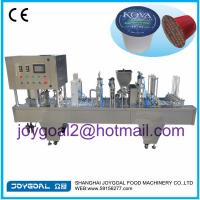Buy cheap 2014 new hot sale automatic coffee capsule filling and sealing machine for K cup, nespresso, lavazza from wholesalers