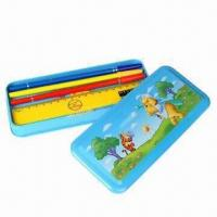 Buy cheap Metal Pencil Case for Ballpens, Rulers and Erases, Customized Designs are Welcome product