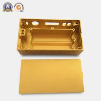Buy cheap Yellow Coated Cnc Mechanical Parts Electronic Cigarette Aluminum Case from wholesalers