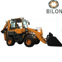 Buy cheap Hydraulic Pilot Joystick  Backhoe Loader With 0.2M3 Excavating Bucket from wholesalers