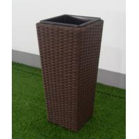 PE rattan patio plant pot Outdoor Furnitures  , steel frame garden plant pot Manufactures