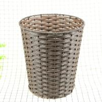 Buy cheap PP Weaving Rattan Fashionable cheap price white round plastic rattan basket waste bin from wholesalers