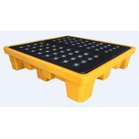 Buy cheap Rotational Moulding 4 Drum Spill Containment Pallet PE Yellow 1300*1300*300mm from wholesalers