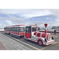 Buy cheap Playground Trackless Kiddie Train 20 People Trolley Bus Intelligent Electronic Control from wholesalers