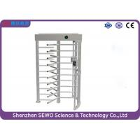 High Security Entrance Controlled Access Gates Full Height Single Channel Turnstile Manufactures