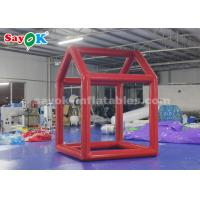 Buy cheap Red Custom Inflatable Products  ,  0.6mm PVC Tarpaulin Cube Inflatable Photo Booth Frame For Advertising from wholesalers
