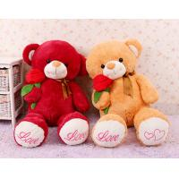 Wholesale Cute Giant Red Teddy Bear Stuffed Animal Toys With Rose Flower Jumbo 80cm from china suppliers