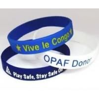 Buy cheap Customize print logo band silicone rubber sports bracelets for best choice  from wholesalers