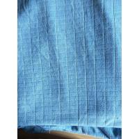 Buy cheap Microfiber Factory Blue Weft Big Grid Car Cleaning Cloth 1.5m Width 320gsm Density product