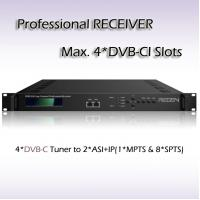 Buy cheap RSR1104_DVB-C Four-Channel Professional Receiver DVB-C Tuner input IPTV and Digital TV Headend from wholesalers