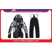 Anti-UV Sportswear Mens Outdoor Jackets and Pants Winter Skiing / Snow Suits Manufactures