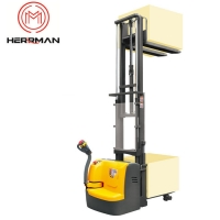 Buy cheap 2500mm Lifting Height 3300lbs Electric  Motorized Pallet Truck Stacker from wholesalers