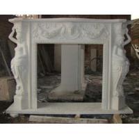 Buy cheap Elegant Carving Marble Fireplaces Mantel With Stone Lady from wholesalers