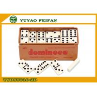 Buy cheap Board Game Double Six Black Dominoes Set , Mexican Dominoes Game from wholesalers
