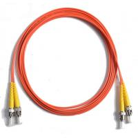 Buy cheap 62.5/125 Duplex orange Fiber Optic Patch Cord , 5Mtrs PVC cable from wholesalers