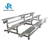 Buy cheap Portable 2 Row Aluminum Bleachers , Environmentally Friendly Padded Stadium Seats With Backs from wholesalers