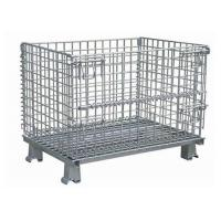Wholesale Hot Dip Galvanized Steel Wire Mesh Storage Cage For Transport 1000 X 800 X 840mm from china suppliers