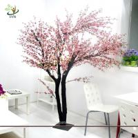 Buy cheap UVG Indoor artificial peach blossom tree with pink flowers for restaurant decoration from wholesalers