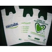 Buy cheap Cheap Custom HDPE/LDPE plastic t-shirt shopping bags printing from wholesalers
