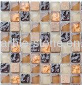 Wholesale Plating Glass Mosaic Tile 15*15*8mm,Dotted Mosaic from china suppliers