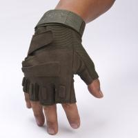 Buy cheap Army Protective Fingerless Tactical Gloves , Military Shooting Gloves Fast Drying from wholesalers