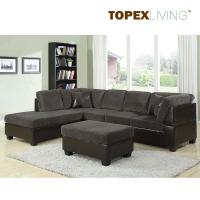 Buy cheap Gray Corduroy Sectional Sofa 2pc Set Sofa Couch Chaise ,Sofa Set with table,Quality Fabric Sofas in Living Room from wholesalers