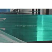 Buy cheap Green Interior Decorative Tempered Safety Glass , Large Tempered Glass Wall Panels from wholesalers