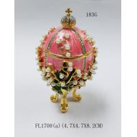 Wholesale Faberge Egg Jewelry Boxes Trinket Boxes decor metal crafts gift from china suppliers