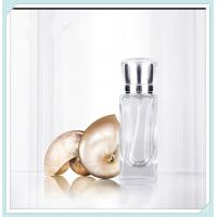 Buy cheap Clear Frosted Perfume Spray Bottles Refill Glass Fine Mist With Anodized Aluminum Cap from wholesalers